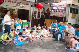Christmas cheer and gifts in a Malaysian orphanage