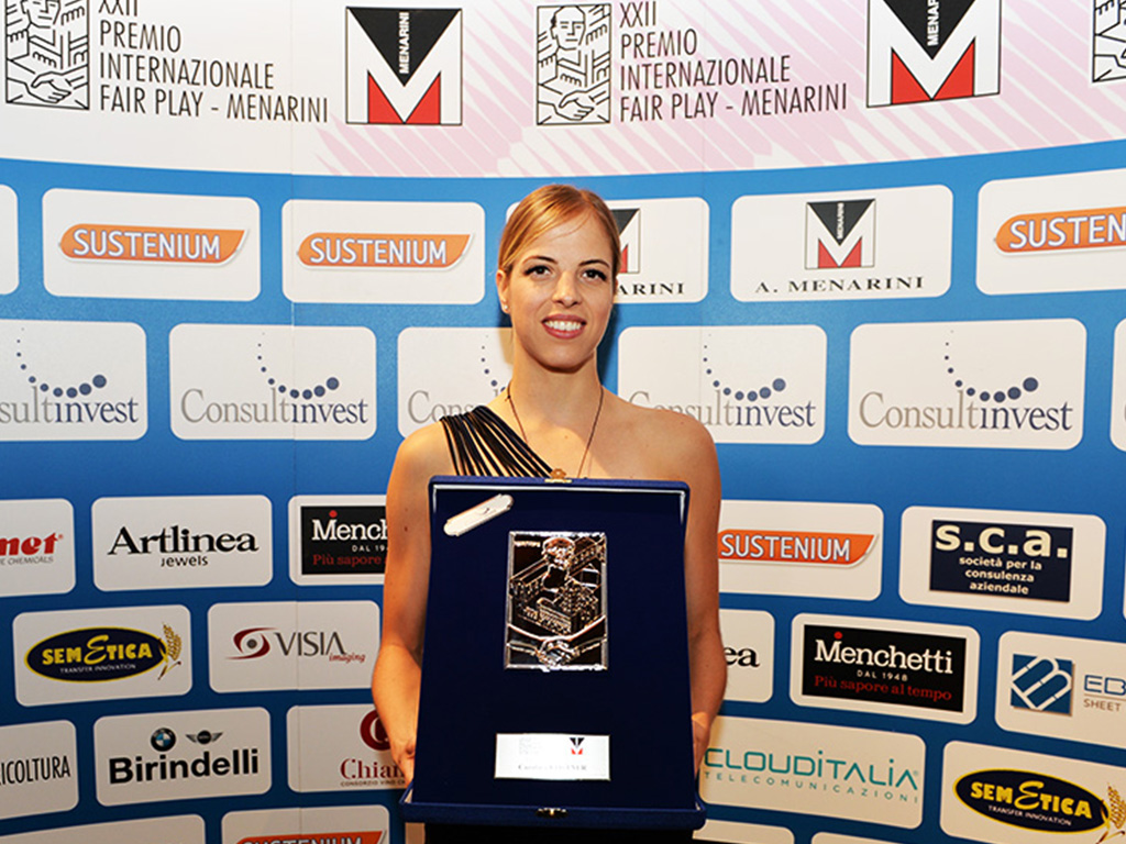 CAROLINA KOSTNER PREMIO FAIR PLAY MENARINI